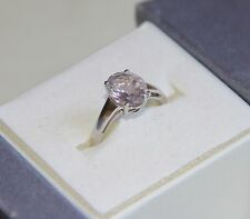 Rose de France Amethyst Solitaire Ring size 7