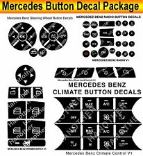 2007-2014 Mercedes Benz Button Repair Premium Package Steering AC Window Decals