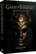GAME OF THRONES COMPLETE SEASONS 1-5 - FREE FAST RECORDED DELIVERY