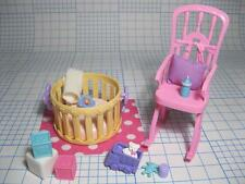 Barbie Baby KRISSY crissy DOLL MINI TOYS Layette Playpen rocking chair rug lot