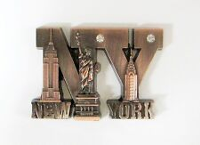 New York City Magnet, Statue of Liberty Metal Magnet, New York Fridge Magnet 03C