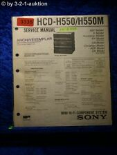 Sony Service Manual HCD H550 / H550M Component System (#3335)