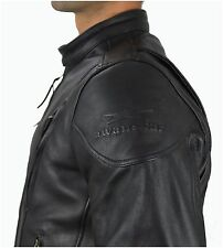 1091 Gr.XL. Leder Motorradjacke AWANSTAR Leder jacke Rocker Biker Leather Jacket