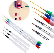 6Pc Set Acrylic French Nail Art Pen Brush Painting Drawing Liner Manicure Tool F