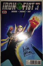 Iron Fist #1 1st Printing Marvel Comics-signed by Artist, Mike Perkins