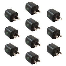 10 USB Black Battery Home Wall AC Charger Adapter for Apple iPhone 5 5C 5G 5S