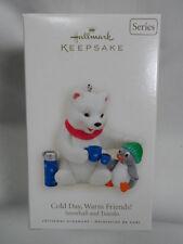2008 HALLMARK Keepsake Ornament Cold Day Warm Friends Snowball Tuxedo #8
