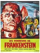Horror de Frankenstein Cartel 01 Letrero De Metal A4 12x8 Aluminio