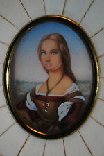 Hand Painted Miniature Portrait Framed
