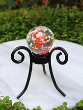 Miniature FAIRY GARDEN ~ Gazing Ball Stand w Glow in Dark Glass Orb RED