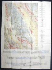 USGS GEOLOGY OF DRY VALLEY, IDAHO, Full Quadrangle Map with Report, 1955 NICE!!