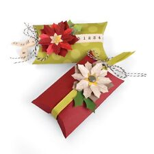 Sizzix Thinlits Die ~ BOX, PILLOW & POINSETTIA ~ Jen Long 660660