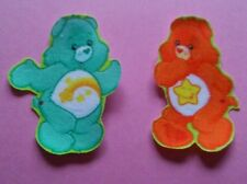 Care Bears ~ Wish Bear & Laugh - A - Lot ~  Iron On Patches Applique ~ #1