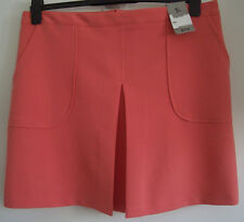 * NEW * WOMEN'S LOVELY SALMON SKIRT WITH FRONT PLEAT SIDE POCKETS SIZE 20 BY TU