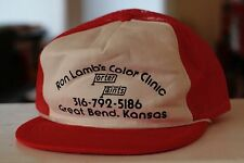 Rare VTG Ron Lamb's Color Clinic Great Bend KS Porter Paint Trucker Snapback Hat