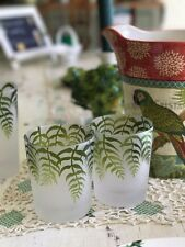 Four Season Frosted Palm Tree Tropical Nautical Old Fashioned Rocks Glass 2