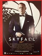 DANIEL CRAIG - SKYFALL JAMES BOND 007 - Polish promo FLYER