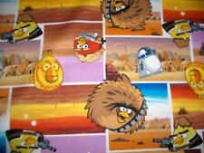 Star Wars Squares Angry Birds C3PO R2-D2 Sand Village Cotton Quilt Fabric BTY