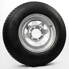 ST225/75D15 Trailer Tire Bias Ply Load Range C Mounted 15″ Galvanized Spoke Rim
