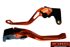 HONDA VFR400 NC30 1989-1993 Adjustable Brake & Clutch CNC Levers Orange