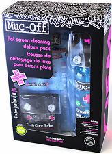 Muc-Off 250ml Deluxe LCD LED  Cleaning Kit Twin Cloths TV Tablet Phone Laptop