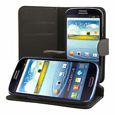 Samsung Galaxy S3 i9300 Coque de protection Housse Pochette wallet Case noir