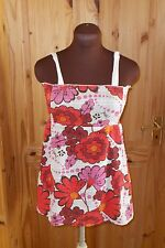 ANIMAL ivory off-white pink red orange floral camisole vest holiday top 10 38