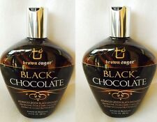 Lot of 2 Black Chocolate 200X Black Bronzer Indoor Tanning Lotion Brown Sugar