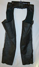 PROTECH Apparel Inc NEW Women's Black LEATHER CHAPS SIZE L w/tags