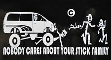 Mitsubishi Funny Nobody Cares About Your Stick Figure Family Delica L300 Van