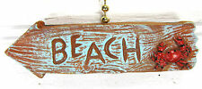 Beach Arrow Sign w/ Red Crab Ceiling Fan or Light Pull Home Decor