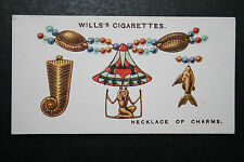 Egyptian Talismanic Charm Necklace   Original 1920's Vintage Card # VGC