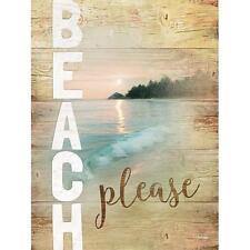 """Coastal Art Print - """"Beach Please"""" - Ocean / Seascape Wall Home Decor Picture"""