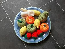 FRUIT SELECTION HAND KNITTED / CROCHETED TOY FOOD / ROLE PLAY / DECORATION *NEW*