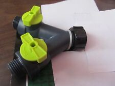 Poly 2-Way Y Water Hose Connector.  Maximum Flow   NEW
