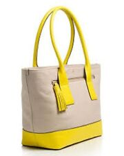 New Kate Spade Southport Avenue Medium Harmony Seed Pearl/Donavon Yellow cowhide