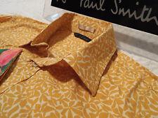 """PAUL SMITH camisa del Mens 🌍 tamaño L (SISA) 44"""" 🌎 RRP £95 + 📮 BRILLANTE VIBRANTE FLORAL"""