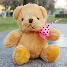 Teddy bear soft toys 18cm stuffed animal  plush Scarf Ribbon Yellow