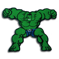 Cartoon Incredible Hulk Patch Embroidered Iron on Badge Retro BSA Rat Rod Hot