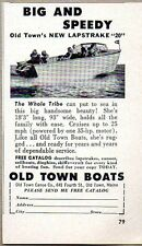 1959 Print Ad Old Town New Lapstrake 20 Boats Made in Old Town,Maine