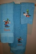 Goofy Personalized 3 Piece Bath Towel Set