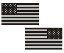 American Subdued Flag Decal SET Tactical Military USA Vinyl Sticker 3""