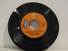 45 RECORD TOMMY CASH- I RECALL A GYPSY WOMAN