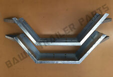 """Galvanised Trailer Mudguards 9"""" wide Checker Plate with step! Boat Trailer Parts"""