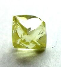 0.75 Carats FANCY CANARY YELLOW Cuttable DODECAHEDRON Natural Rough Diamonds