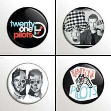 "4-Piece Twenty One Pilots 1"" Band Pinback  Buttons / Pins / Badges Set"