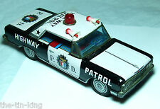 Rare assiette en tôle bandai japan friction jouet highway patrol police car C1960S
