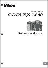 Nikon CoolPix L840 Digital Camera User Guide Instruction  Manual