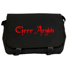 GRRR ARGHH! Black Messenger Flight Bag buffy the vampire slayer joss whedon NEW