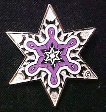 Purple Awareness Ribbon Snowflake Lapel Pin Ltd Ed Relay for Life Lupus Epilepsy